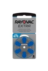 Rayovac blauw 675 AU Extra hoorapparaat batterij (6 stuks)
