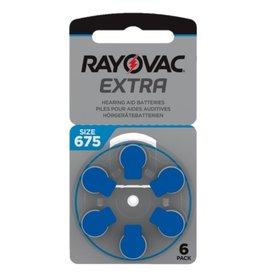 Rayovac 6 stuks 675AU blauw hoorapparaat batterij