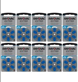Rayovac 60 stuks 675AU Extra hoorapparaat batterij BLAUW