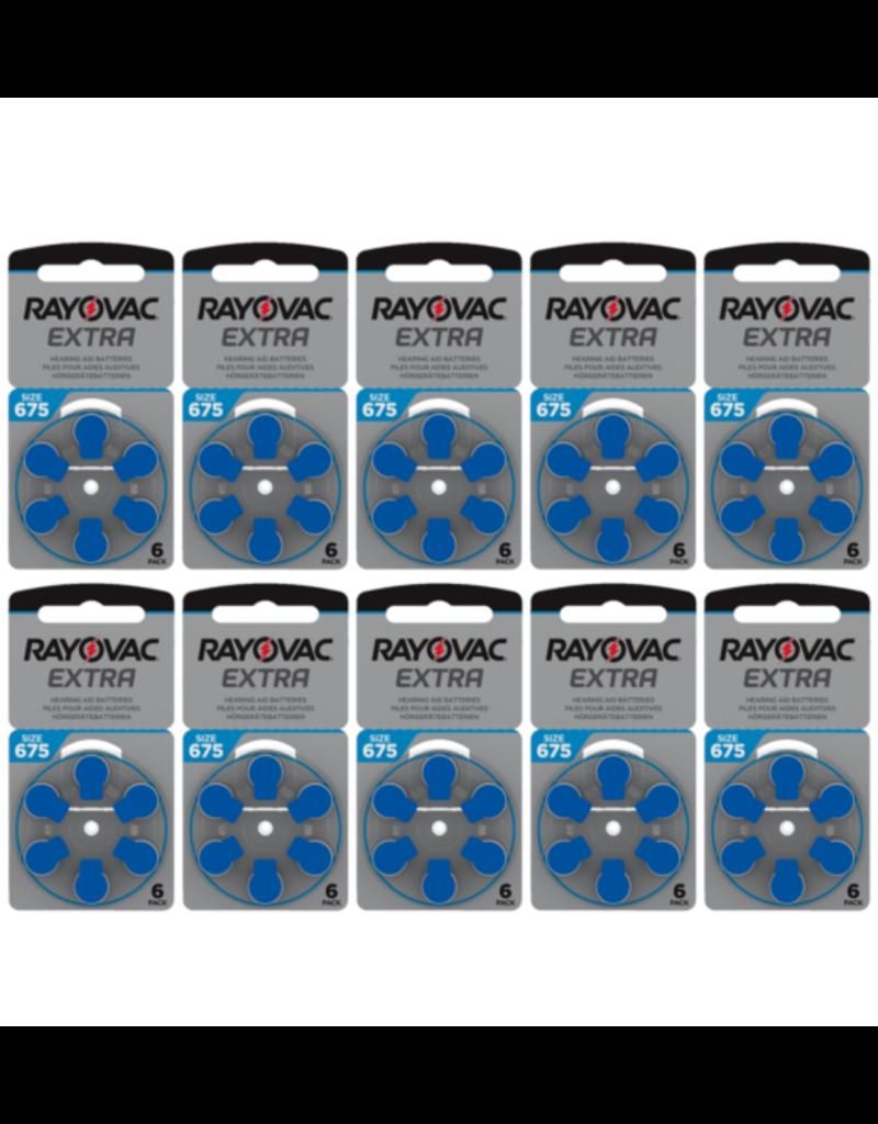 Rayovac 60 stuks blauw 675 AU Extra hoorapparaat batterij