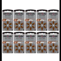 Rayovac 60 stuks bruin 312 AU Extra hoorapparaat batterij
