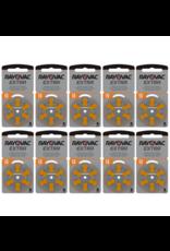 Rayovac 60 stuks oranje 13 AU Extra hoorapparaat batterij