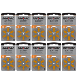 Rayovac 60 stuks 13 AU Extra hoorapparaat batterij ORANJE