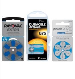 Proefpakket No. 675 hoorbatterij BLAUW