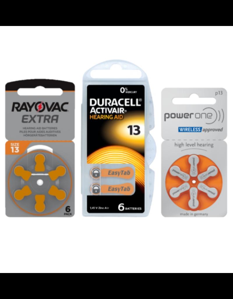 Proefpakket: 3 pakjes met 6 batterijen No. 13 oranje