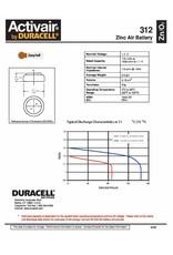 Duracell 60 stuks bruin DA312 hoorapparaat batterij