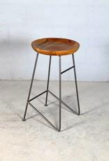 Jabulo Design Barhocker Louis Retro Metall Holz Industrial Vintage iron