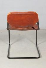 Jabulo Design Stuhl im Industrial-Stil aus Leder und Metall