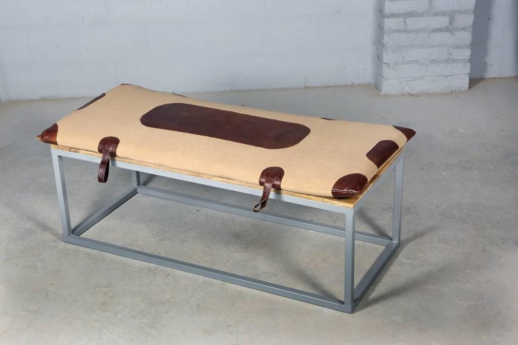 Jabulo Design Lounge Sitzbank Lou Cout Leder Metall