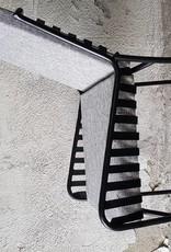 Jabulo Design Lounge Stuhl Stellenbosch Metall mit Jute Kissen