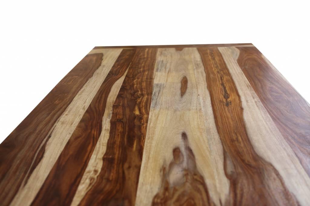Jabulo Esstisch Massivholz Tisch Sheesham Holz Esstisch 180 cm