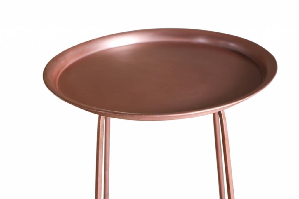 Jabulo Beistelltisch Penelope Kupfer Retro Design Kupfertisch