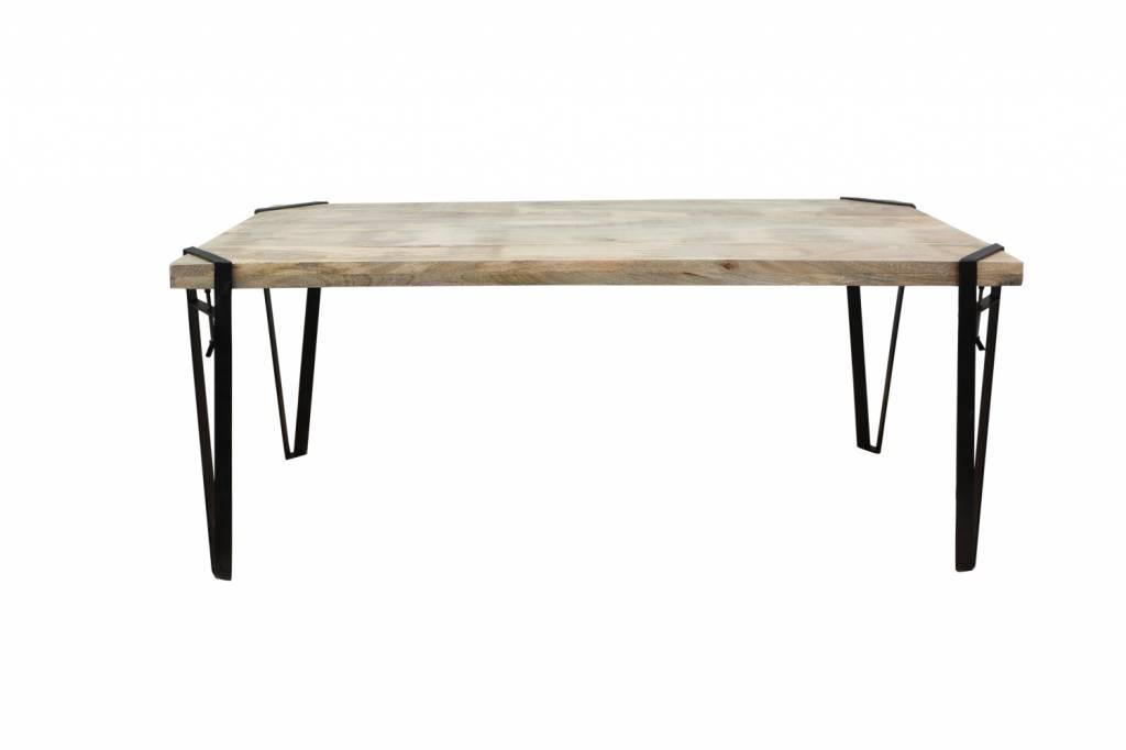 Jabulo Industrial Tisch SoHo Esstisch Metallbeine individualisierbar Clamp Table