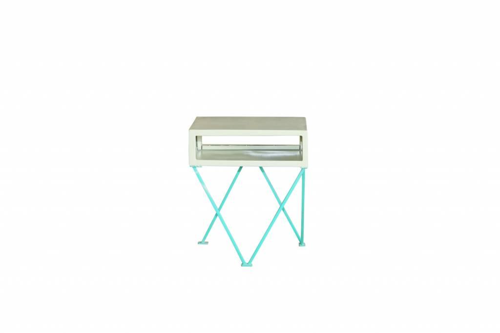 Jabulo Beistelltisch Crosslegs Retro Design Nachttisch Schränkchen