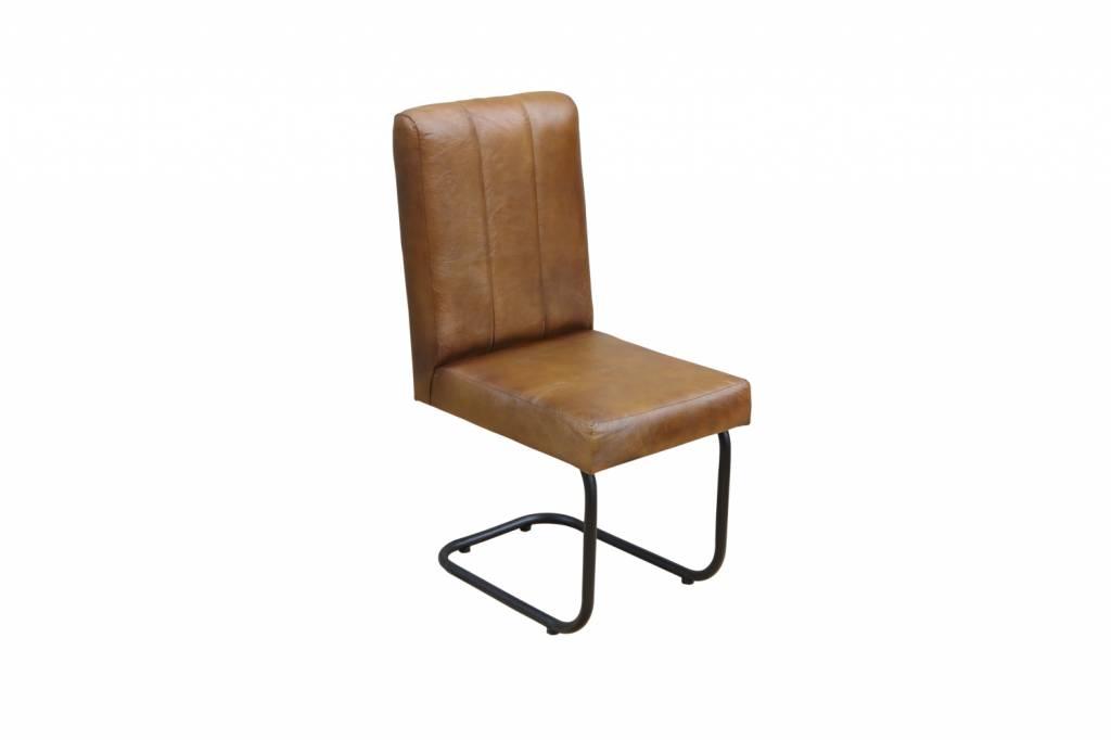 Jabulo Freischwinger Lederstuhl Oxford Industrial Sessel