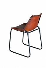 Jabulo Stuhl im Industrial-Stil aus Leder und Metall