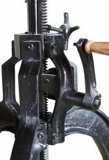 Jabulo Industrial Tisch Beistelltisch höhenverstellbar mit Kurbel Drehtisch Vintage retro Eisen