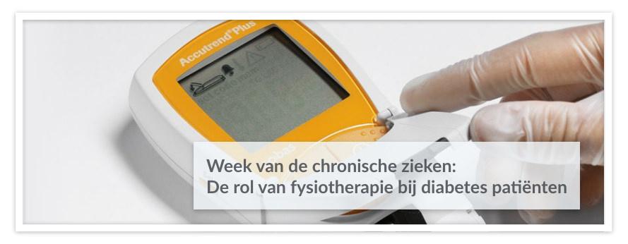 Week van de chronische zieken: De rol van fysiotherapie bij diabetes patiënten