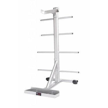 Lifemaxx Lifemaxx Body pump rack 10 sets (silver)