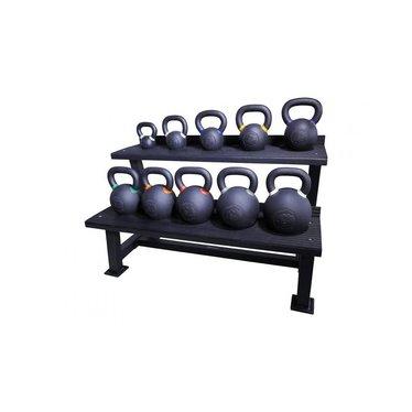 Lifemaxx Crossmaxx® kettlebell rack (black)
