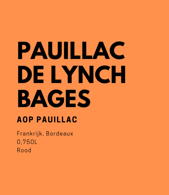Pauillac De Lynch-Bages 0,750L Rood