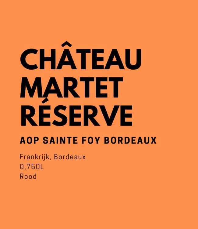 """Château Martet """"Réserve de la Famille"""" 0,750L Rood"""