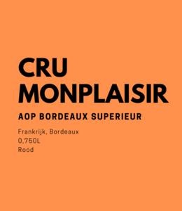Cru Monplaisir 0,750L Rood