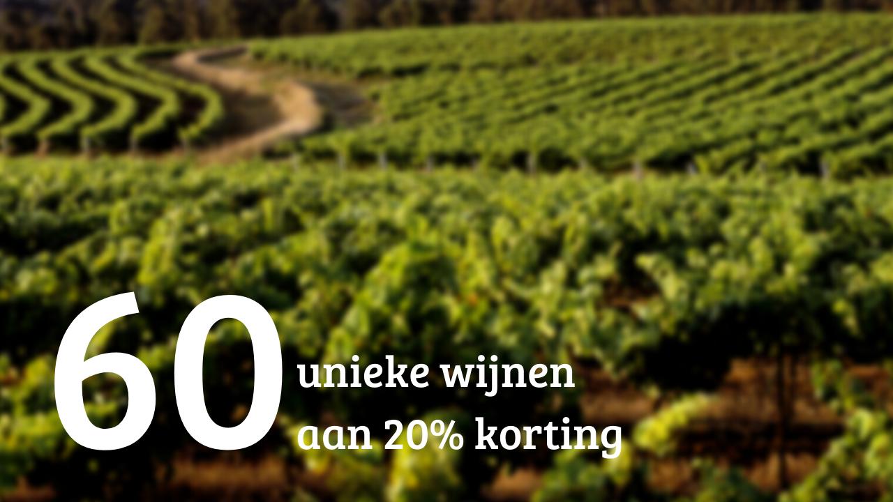 60 Wijnen - 20% Korting