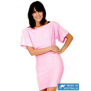 Terry Rich Australia Pink Terry Beach Cover Up