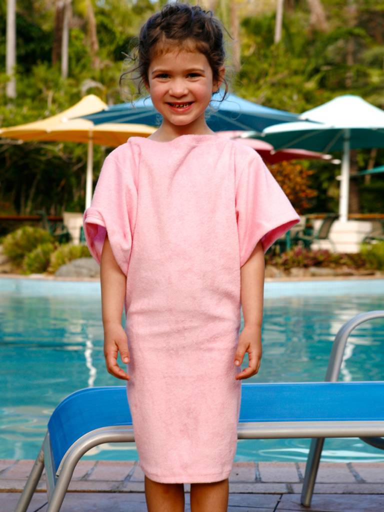 5cf784db01 Terry Rich Australia Pink Terry Beach Cover Up for girls - Destination ...
