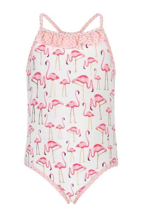 Badpak Maat 92.Uv Badpak Golden Flamingo Voor Meisjes Destination Beach