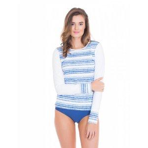 Cabana Life UV Shirt Batik Stripe Navy