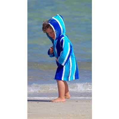 Back Beach Co Kinderbadjas Blue Stripe