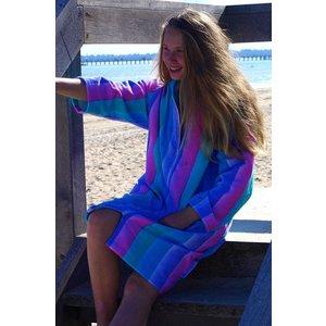 Back Beach Co Coral Fade dames badjas met capuchon