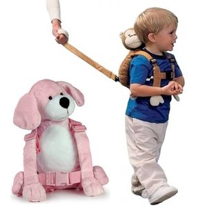 Goldbug Kindertuigje met looplijn Roze Puppy