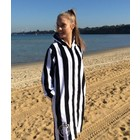 Back Beach Co Dames Badjas Classic Stripe