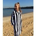 Back Beach Co Dames Badjas Classic Stripe