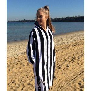 Back Beach Co Classic Stripe dames badjas met capuchon