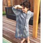 Back Beach Co Kids Beach Robe Fish Bone