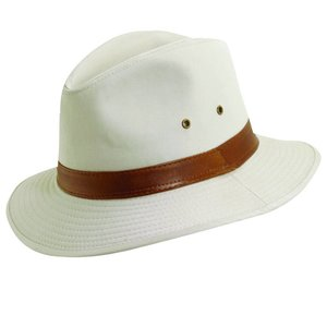 Dorfman Pacific UV Hat Fedora White