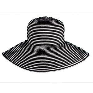 Dorfman Pacific UV Hat Black and White
