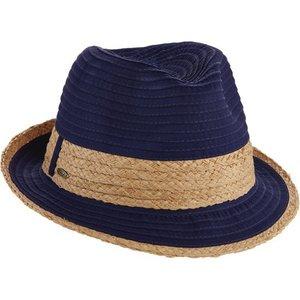Dorfman Pacific Zonnehoed Fedora Donkerblauw