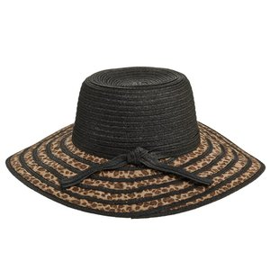 Dorfman Pacific UV Zonnehoed Luipaardprint zwart