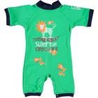 Sonpakkie UV Baby Zwempak ´Surf the Croc´ Groen / Donkerblauw