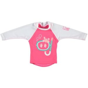 Sonpakkie UV Swim Shirt 'Ocean Hunter' (Pink & White)