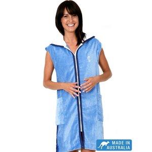 Terry Rich Australia Dames badjas met capuchon & mouwloos Breeze