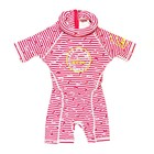 Swimsafe Floatsuit Dolphin stripe pink