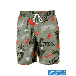 Terry Rich Australia Board Short (Father-Son) Crab In Green