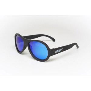 Babiators Kinder zonnebril Aviator Ops Black / Blauwe lens