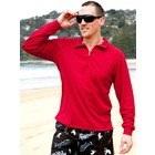 Terry Rich Australia UV Polo lange mouwen rood